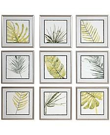 Verdant Impressions Leaf Prints Set of 9