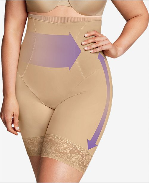 fb3c2ef9437 ... Maidenform Women s Firm Foundations Curvy Plus Size Firm Control High  Waist Thigh Slimmer DM1024 ...