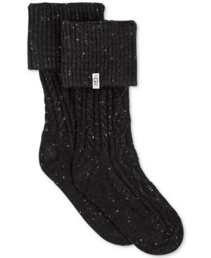 Ugg Women's Short Sienna Rain Boot Socks In Black
