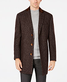 Tallia Men's Big & Tall Slim-Fit Herringbone Overcoat