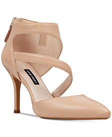 Nine West Forty Asymmetrical Strappy Pumps