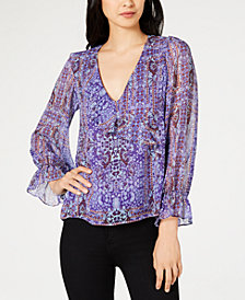 Nanette Lepore Printed Peasant Top, Created for Macy's