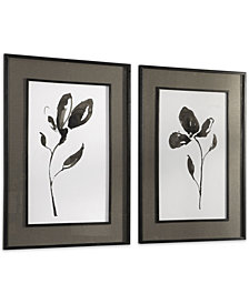 Uttermost Solitary Sumi-e Floral Prints Set of 2