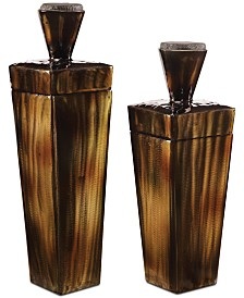 Uttermost Lisa Brown Steel Containers Set of 2