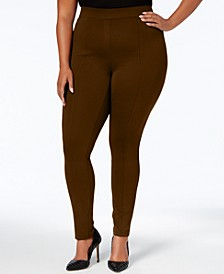 Plus Size Seamed Ponte Leggings, Created for Macy's