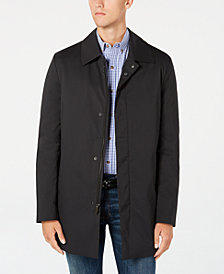 Kenneth Cole New York Men's Reyes Modern-Fit Black Raincoat