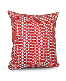 16 Inch Coral Decorative Geometric Throw Pillow