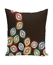 16 Inch Dark Brown Decorative Abstract Throw Pillow