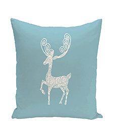 16 Inch Light Blue Decorative Christmas Throw Pillow