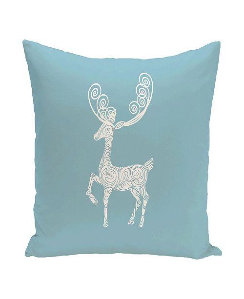 E By Design 40 Inch Light Blue Decorative Christmas Throw Pillow Amazing Light Blue Decorative Throw Pillows
