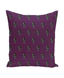 16 Inch Purple Decorative Christmas Throw Pillow