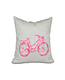 Life Cycle 16 Inch Pink Decorative Geometric Throw Pillow