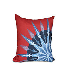 Sailor's Delight 16 Inch Red Decorative Nautical Throw Pillow