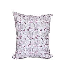 Fishwich 16 Inch Purple Decorative Coastal Throw Pillow