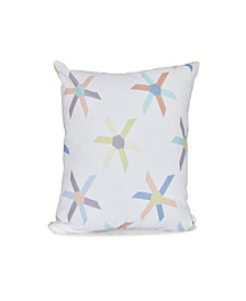 Pinwheel Pop 16 Inch Light Purple Decorative Abstract Throw Pillow