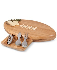 Toscana™ by Picnic Time Quarterback Football Cheese Cutting Board & Tools Set