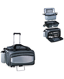Picnic Time Vulcan Portable Propane Grill & Cooler Tote with Trolley