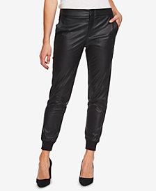 CeCe Faux-Leather Jogger Pants
