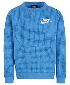 Nike Little Boys Printed Fleece Crew-Neck Sweatshirt