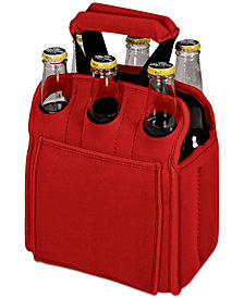 Picnic Time Six Pack Red Beverage Carrier