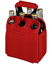Oniva™ by Picnic Time Six Pack Red Beverage Carrier