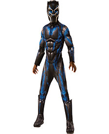Marvel Black Panther Movie Boys Deluxe Black Panther Battle Suit Boys Costume