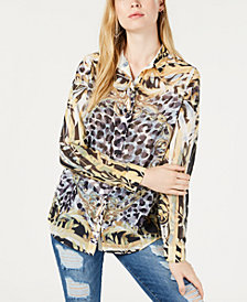 GUESS Cheetah-Print Shirt