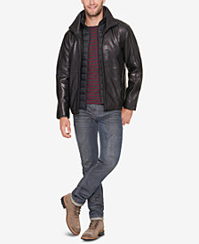 Marc New York Men's Leather Jacket with Bib