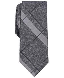 Tallia Men's Foley Check Floral Slim Tie