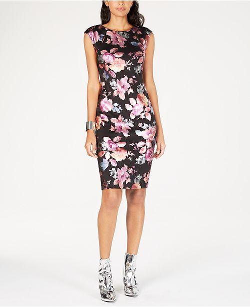 7241f23c279 Thalia Sodi Floral-Print Sheath Dress