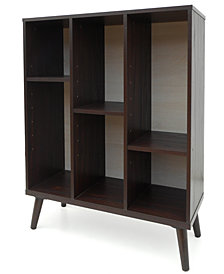 Abigale Oak Bookshelf, Quick Ship