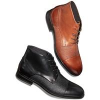 Deals on Alfani Mens Reide Textured Cap-Toe Boots