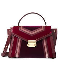 MICHAEL Michael Kors Whitney Tricolor Velvet Top Handle Satchel