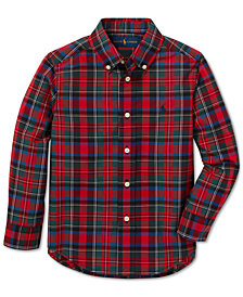 Polo Ralph Lauren Toddler Boys Poplin Cotton Shirt