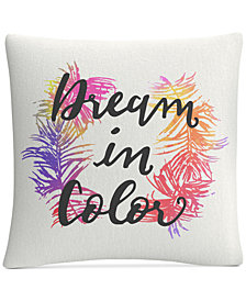 "ABC Dream in Color 16"" x 16"" Decorative Throw Pillow"