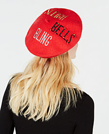Charter Club Sleigh Bells Bling Wool Beret, Created for Macy's