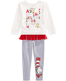 Dr. Seuss Toddler Girls 2-Pc. Cat in the Hat Sweatshirt & Leggings Set