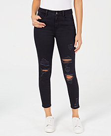 Rewash Juniors' The Stevie Ripped Cropped Skinny Jeans