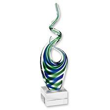 Ocean Art Glass Sculpture