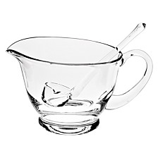 Badash Crystal Gravy Boat with Ladle