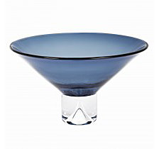 Badash Crystal Monaco Midnight Blue Decorative Bowl
