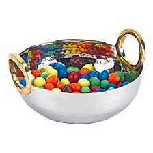 Rings Stainless Steel and Brass Serving Bowl