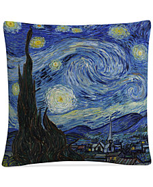 "Vincent van Gogh Starry Night 16"" x 16"" Decorative Throw Pillow"