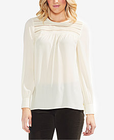 Vince Camuto Crochet-Trim Top