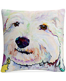 "Pat Saunders-White Buttons 16"" x 16"" Decorative Throw Pillow"