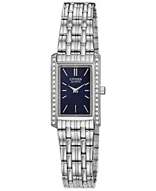 Citizen Women's Quartz Stainless Steel Bracelet Watch, Created for Macy's, 19x29mm
