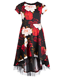 Bonnie Jean Big Girls Floral-Print Scuba Dress