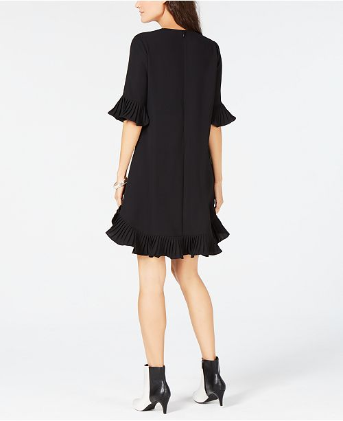 e728d622d7f ... Alfani Petite Pleated-Trim Flounce Dress