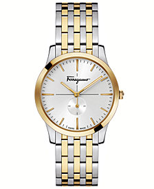 Ferragamo Women's Swiss Slim Formal Two-Tone Stainless Steel Bracelet Watch 35mm