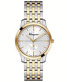 Ferragamo Women's Swiss Slim Formal Two-Tone Stainless Steel Bracelet Watch 35mm
